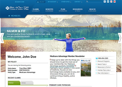 Blue Cross of Idaho Member Website